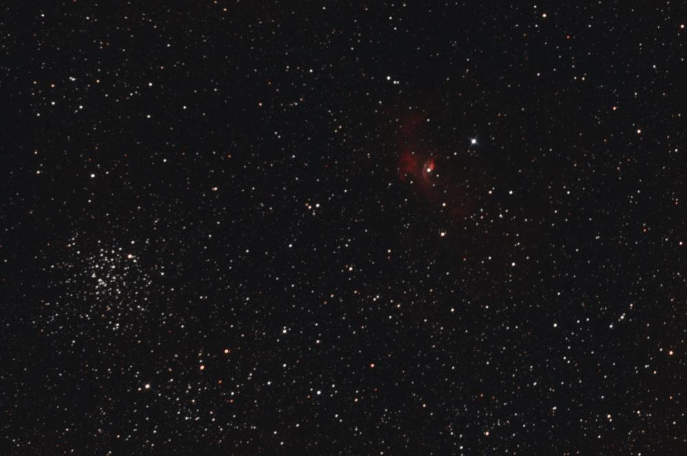 M52 + NGC 7635