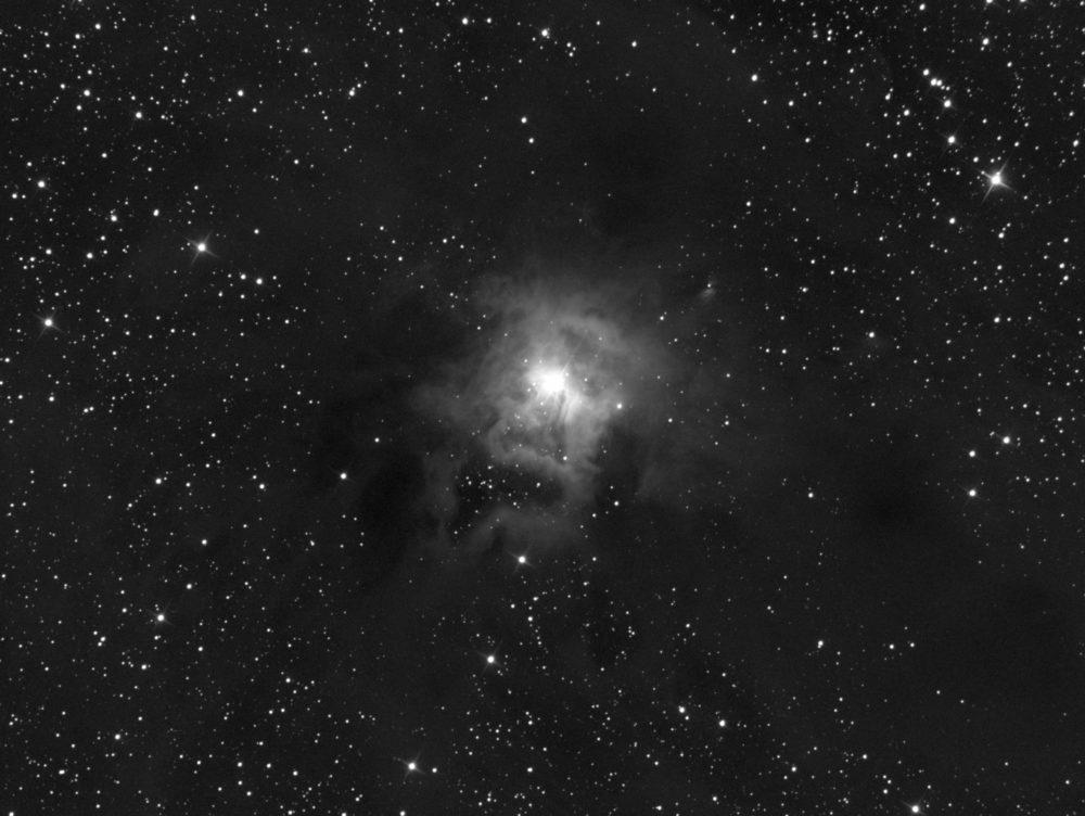Nébuleuse de l'Iris (N&B), NGC 7023