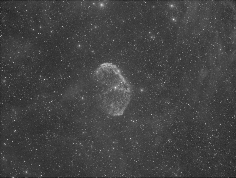 NGC 6888, le Croissant dans la constellation du Cygne