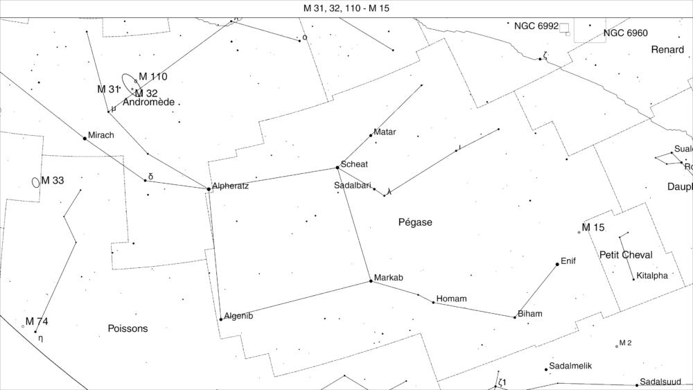 Repérage M 31