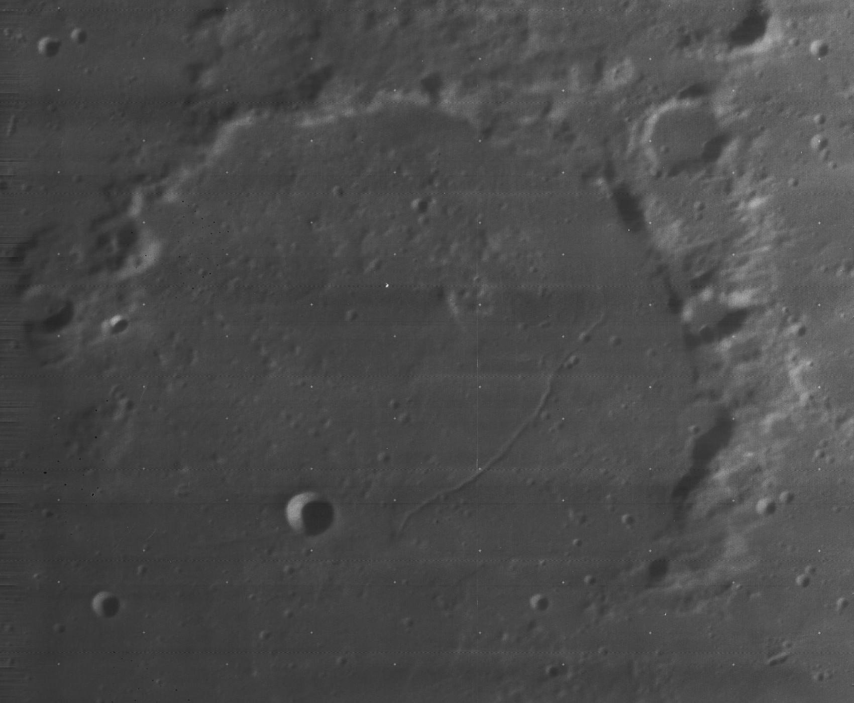 Cratère Gartner - Image Lunar Orbiter 4