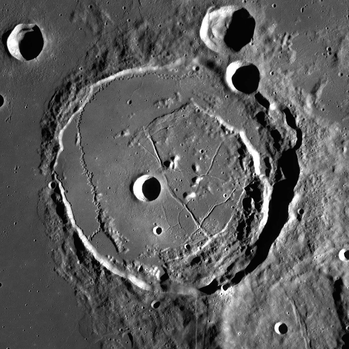 Cratère Posidonius - Image LRO