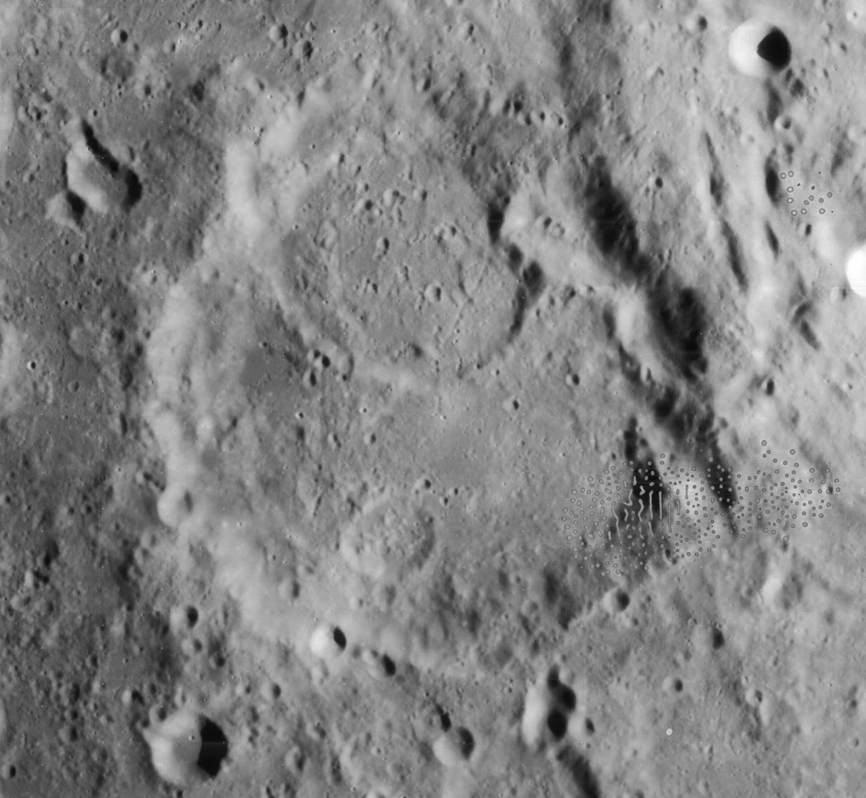 Cratère Catherine - Image Lunar Orbiter 4