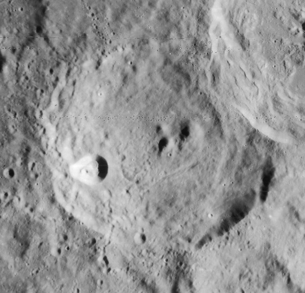 Cratère Cyrille - Image Lunar Orbiter 4