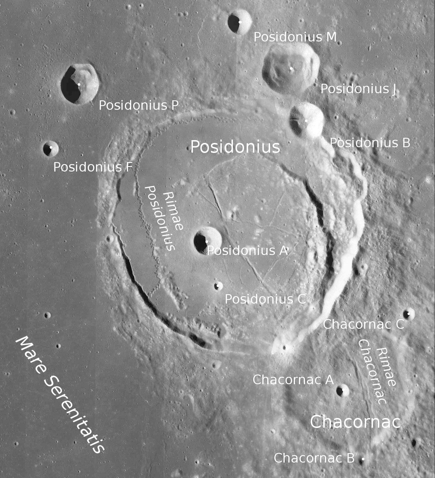 Posidonius Rimae - Image LRO